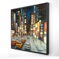 Framed 24 x 24 - 3D - View on times square