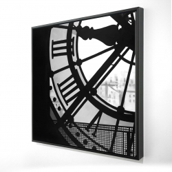 Framed 24 x 24 - 3D - Clock at the orsay museum