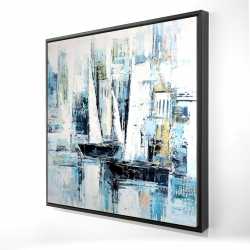 Framed 24 x 24 - 3D - Industrial style boats