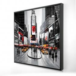 Framed 24 x 24 - 3D - New york city busy street