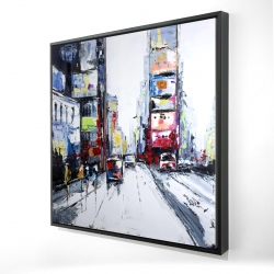 Framed 24 x 24 - 3D - Time square