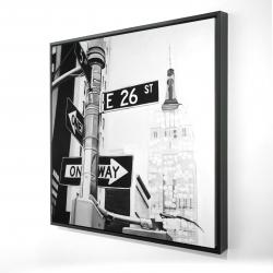 Framed 24 x 24 - 3D - New york city street signs