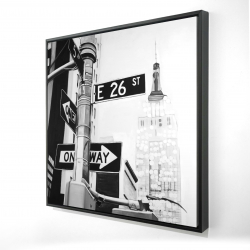 Framed 24 x 24 - 3D - New york city street signs