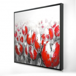 Framed 24 x 24 - 3D - Abstract red tulips