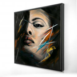 Framed 24 x 24 - 3D - Abstract woman portrait