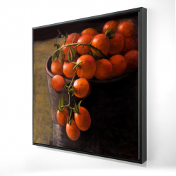 Framed 24 x 24 - 3D - Bucket of cherry tomatoes