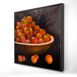 Framed 24 x 24 - 3D - Bowl of cherry tomatoes