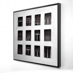 Framed 24 x 24 - 3D - Windows