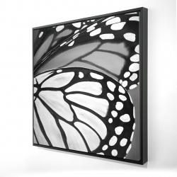 Framed 24 x 24 - 3D - Butterfly wings closeup