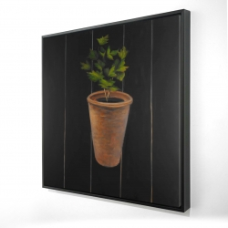 Framed 24 x 24 - 3D - Plant of parsley
