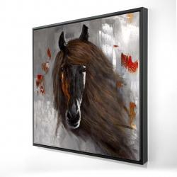 Framed 24 x 24 - 3D - Proud brown horse