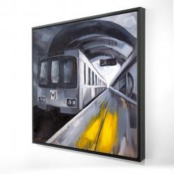 Framed 24 x 24 - 3D - Subway