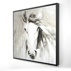 Framed 24 x 24 - 3D - Beautiful abstract horse