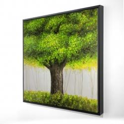 Framed 24 x 24 - 3D - Big green tree