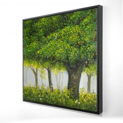 Framed 24 x 24 - 3D - Forest by summer