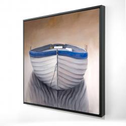 Framed 24 x 24 - 3D - Canoe boat