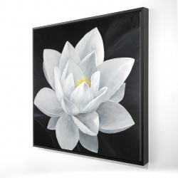 Framed 24 x 24 - 3D - Overhead view of a lotus flower