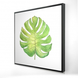 Framed 24 x 24 - 3D - Tropical leaf