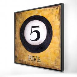Framed 24 x 24 - 3D - Billiard ball no5