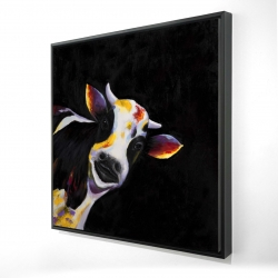 Framed 24 x 24 - 3D - One funny cow