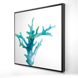 Framed 24 x 24 - 3D - Watercolor sea coral