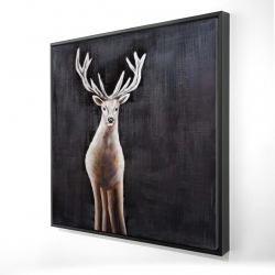 Framed 36 x 36 - 3D - Lonely deer