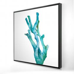 Encadré 24 x 24 - 3D - Petit corail de mer à l'aquarelle