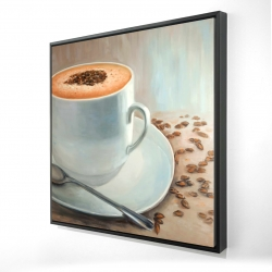 Framed 24 x 24 - 3D - Cappuccino time