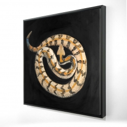 Framed 24 x 24 - 3D - Southern timber rattlesnake