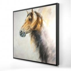 Framed 24 x 24 - 3D - Wild horse