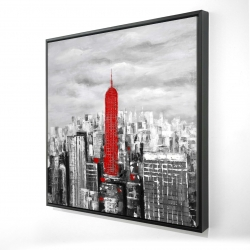 Framed 24 x 24 - 3D - Empire state building of new york