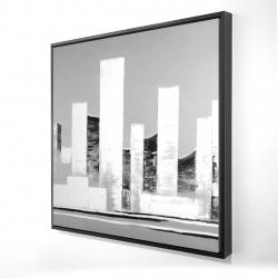 Framed 24 x 24 - 3D - Minimalist abstract buildings