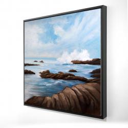 Framed 24 x 24 - 3D - Seaside storm