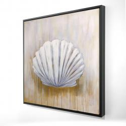 Framed 24 x 24 - 3D - Feston shell