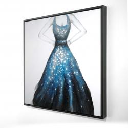 Framed 24 x 24 - 3D - Blue princess dress