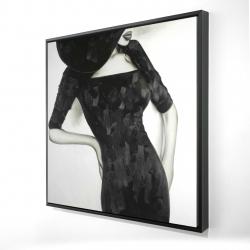 Framed 24 x 24 - 3D - Beautiful classic woman