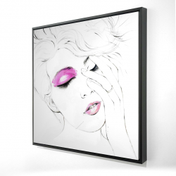 Framed 24 x 24 - 3D - Pink makeup
