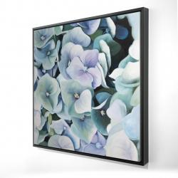 Framed 24 x 24 - 3D - Hydrangea plant
