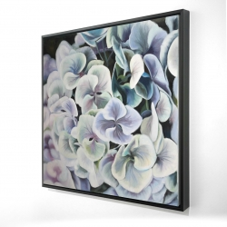 Framed 24 x 24 - 3D - Colorful hydrangea flowers