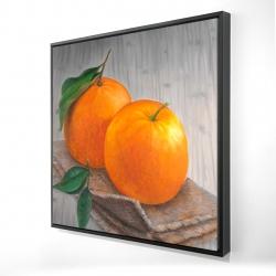 Framed 24 x 24 - 3D - Two oranges