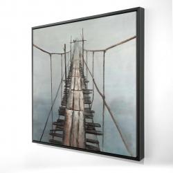 Framed 24 x 24 - 3D - Old abandoned bridge