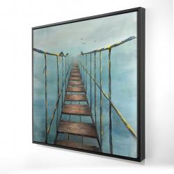 Framed 24 x 24 - 3D - Old and dangerous bridge