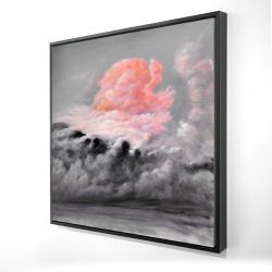 Framed 24 x 24 - 3D - Pink clouds