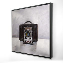 Framed 24 x 24 - 3D - Old camera