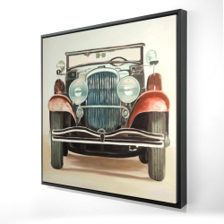 Framed 24 x 24 - 3D - Old 1920s luxury car