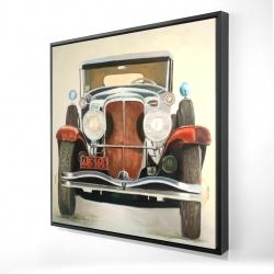 Framed 24 x 24 - 3D - Vintage luxury car