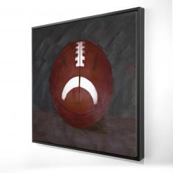 Framed 24 x 24 - 3D - Football ball