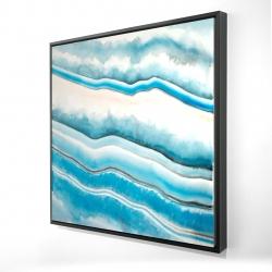 Framed 24 x 24 - 3D - Textured geode