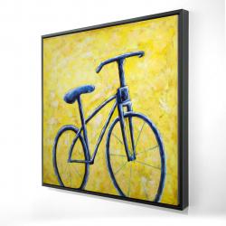 Framed 24 x 24 - 3D - Blue bike abstract