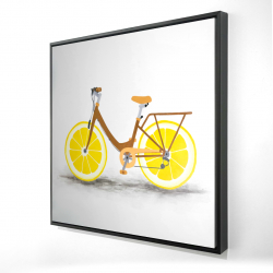 Framed 24 x 24 - 3D - Lemon wheel bike
